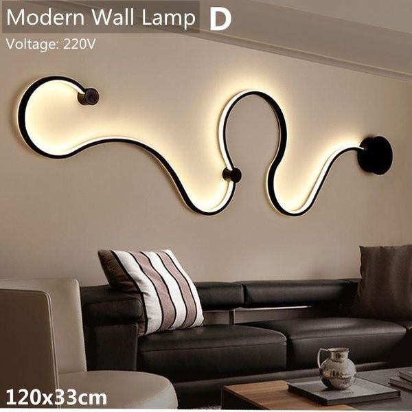 Modern 2 Types Led Acrylic Chandelier Ceiling Light Fixture Wall
