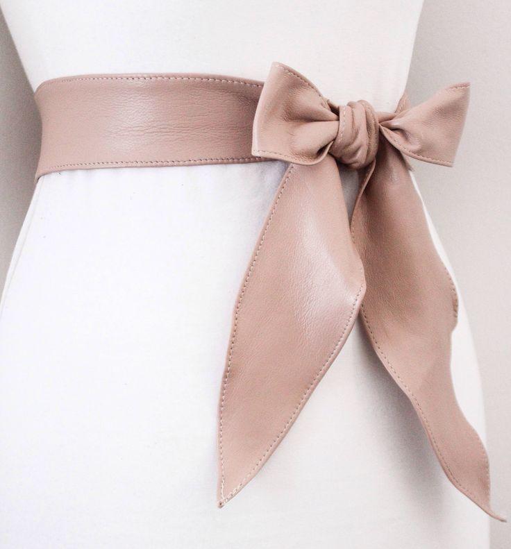 Nude sash belt Bridal belt Wedding belt