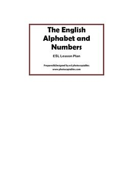 An integrated esl lesson plan on alphabet and numbers. Ideal for false beginner classes and hands on learning. This lesson aims to help ss discover the pronunciation of English alphabet with the help of numbers. Numbers ws has information exchange activity which will increase classroom interaction along with alphabet class game.This lesson plan includes:2 worksheetsDetailed lesson procedure (incl.