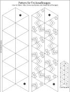 Printable pattern for tri-hexaflexagon - ready to color
