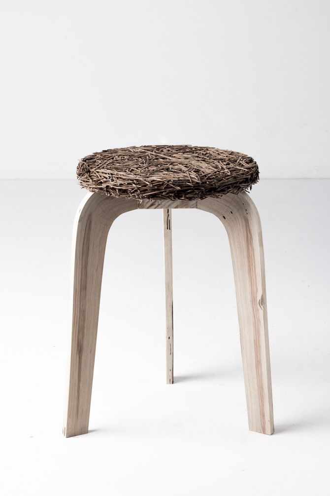 Pine Stool And Pine Table From Samuel Reis Are Objects That Uses Forms And  Matter Of A Pine Tree. The Structure In Natural Grown Curved Trunks And The  ...