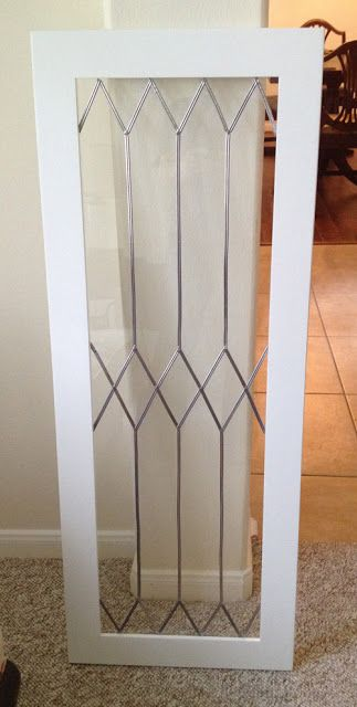Faux Leaded Glass - make your own leaded glass 'look' using a self adhesive lead strip found on Amazon. Turned out great.