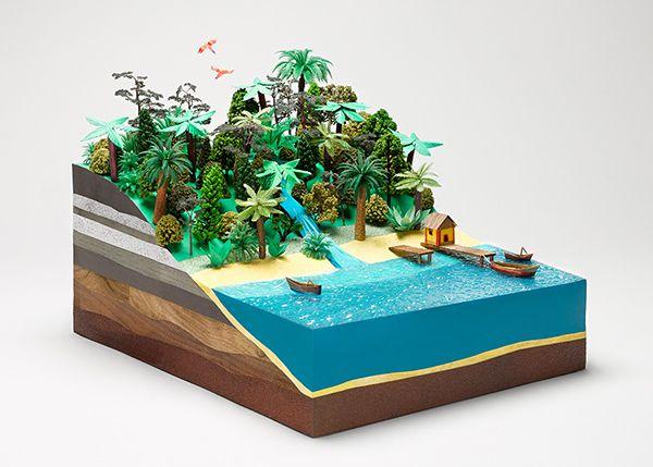 ostrov. rez. charakteristický model // Keihl's Earth Day on Behance