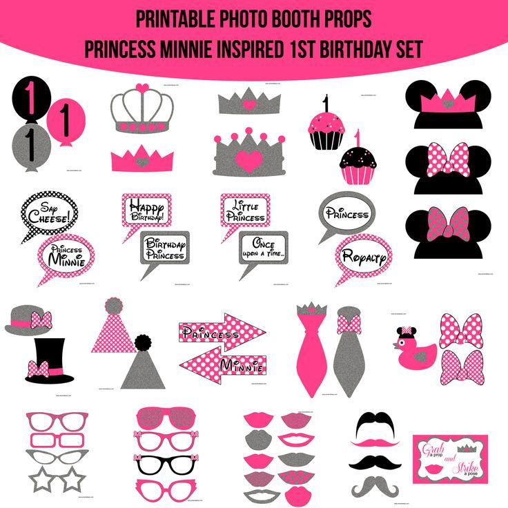 Instant Download Princess Minnie Inspired 1st Birthday
