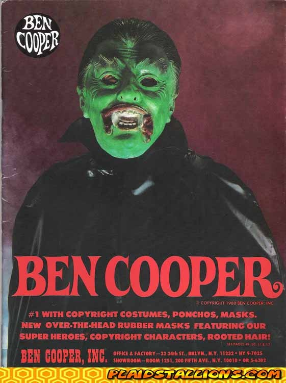 Ben Cooper Halloween Costume Catalog. I was The Creature from the Black Lagoon. 1972