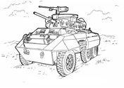 M8 Greyhound light armored car  Coloring page