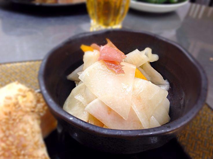 aya's dish photo 蕪と生ハムの和え物   http://snapdish.co #SnapDish #レシピ #調理実習/料理教室 #お正月 #お刺身/マリネ #野菜料理 #おせちグランプリ2014