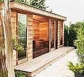 Luxury outdoor sauna house