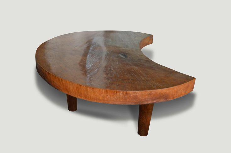 Mid Century Style Organic Teak Coffee Table