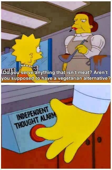 Lisa Simpson was my role model when I was growing up.