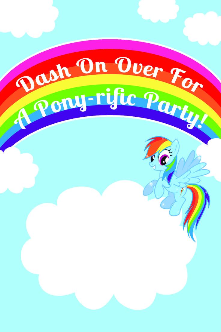 Best 25 Rainbow dash party ideas on Pinterest My little pony
