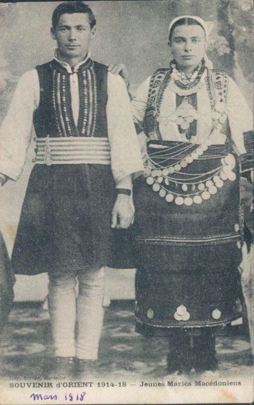 Macedonian youg married couple 1918