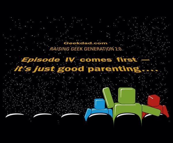 Episode IV comes first - it's just good parenting...