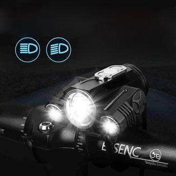 XANES 360° Rotation 400LM Waterproof Bike Light T6+2XPE 4 Modes Headlamps Handfree Aluminium Alloy Multipurpose LED Outdoor Sports Headlight for Biking Camping Hiking Sale - Banggood.com