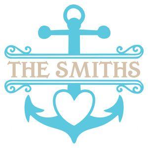 Silhouette Design Store: love anchor monogram frame