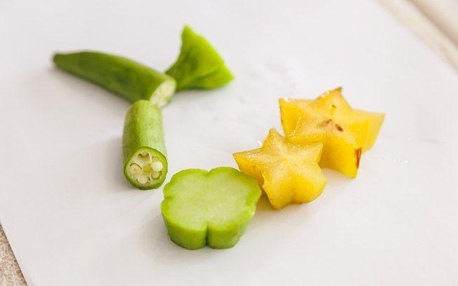 Essa técnica é simples. Um adulto precisa cortar os legumes e frutas, para que a criança não se machuque. Foto: Edu Cesar