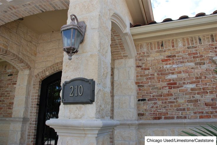 White Stone With Old Chicago Brick Chicaho Brick