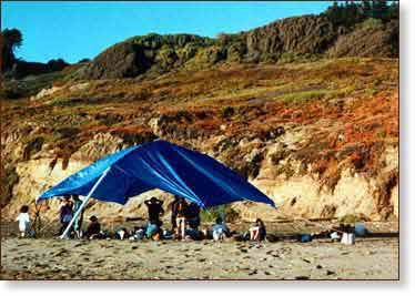 ArchTent: a Shade and Rain Shelter for Parties and Emergency Shelter