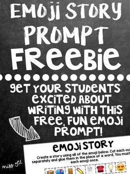 Emoji Story- A Writing Prompt using Emoji- FREE!
