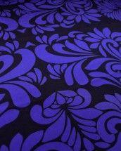 Silk Pongee Fabric - Brocatelle Blue