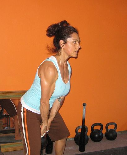 kettlebell swings - this mom lost 100+ lbs by doing them 2-3 times a week for 15-20 min  ..... I need a set of these