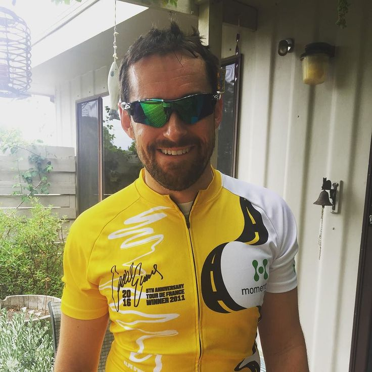Rocking the @cadelroadrace yellow jersey today #PeoplesRide #CadelEvans #LeTourdeFrance #RideWithCadel #greatoceanroad #torquay #janjuc #oakley #strava #cycling #victoria #surfcoast #australia #fromwhereiride #WYMTM by shanrides http://ift.tt/1X8VXis