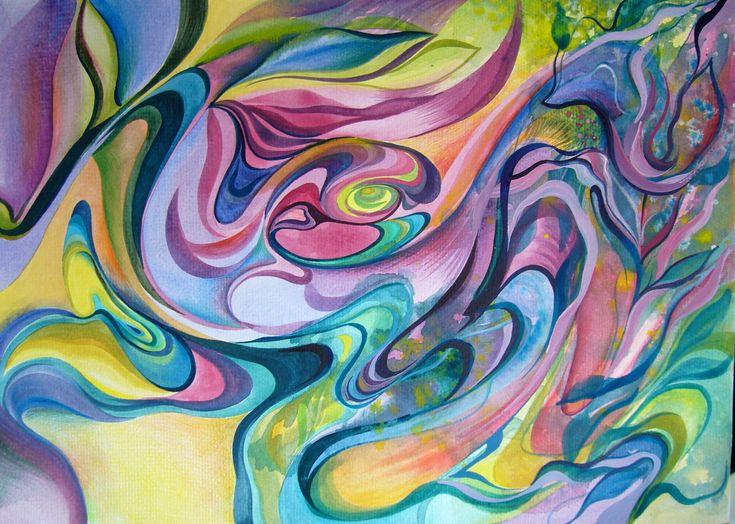 Composition- mixed media, 30/41 cm, 2012, Derecichei Simona Mihaela