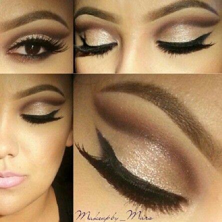 Golden Smokey Eye Makeup Tutorials #dailyfashforfashions