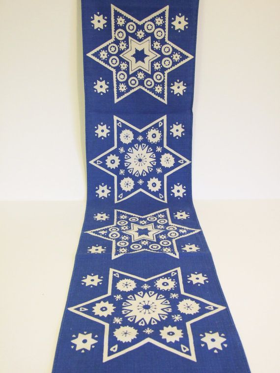 Suecia Tapete navideño Azul  //Corremesa navideño por tiendanordica