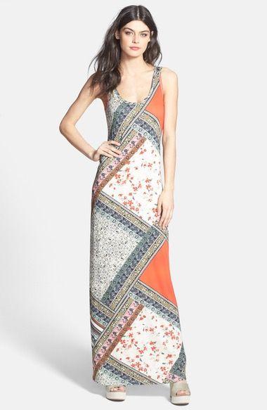 Lily Aldridge for Velvet by Graham & Spencer Print Maxi Dress available at #Nordstrom
