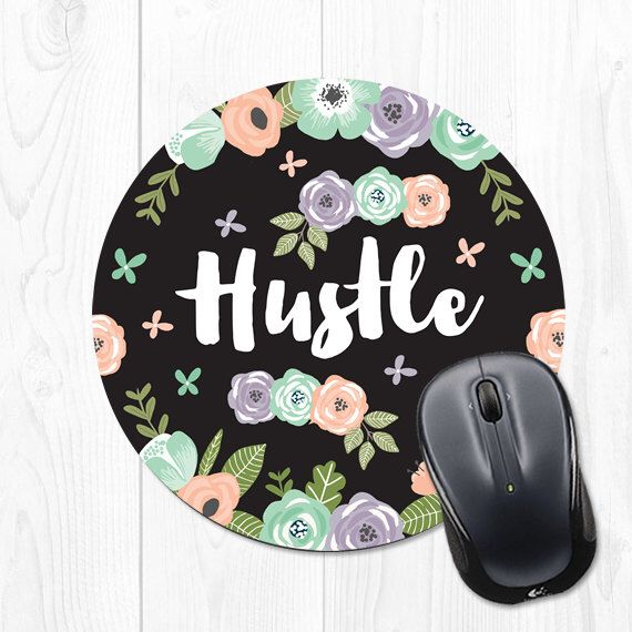 Mouse Pad Floral Mousepad Hustle New Job Gift Mouse Mat Office Supplies Office Desk Accessories Cubicle Decor Coworker Gift Cute Mouse Pad by fieldtrip on Etsy https://www.etsy.com/listing/479400443/mouse-pad-floral-mousepad-hustle-new-job