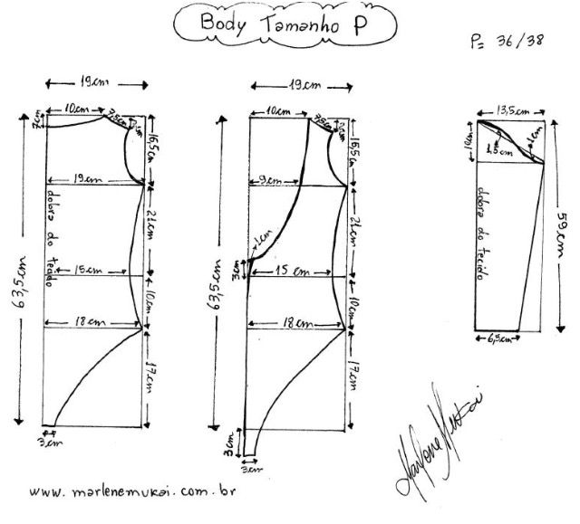 Body manga larga T36