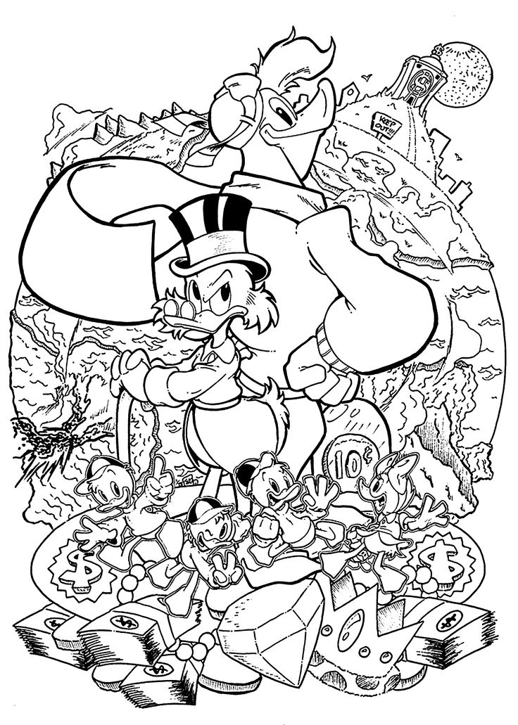 Duck Tales Coloring Pages For Kids Printable Free