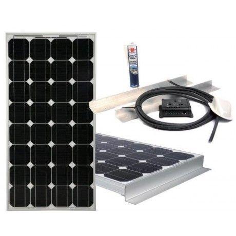 Accessoire et équipement camping-car : pack panneau solaire 100w 12v ENERGIE MOBILE KITCC130-A