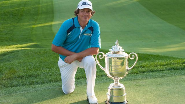 The PGA Championship trophy, won by Jason Dufner this year, is named the Rodman Wanamaker Trophy after department store Rodman Wanamaker, who was one of the driving forces behind the formation of The PGA of America in1916.