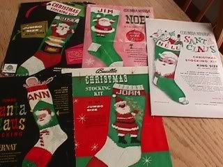 Vintage Knit Christmas Santa Stocking Pattern by FavoriteWoolies, $6.00