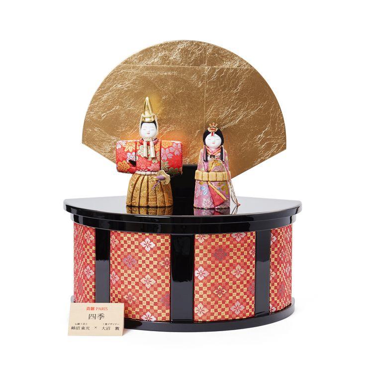 毎年飾るのが楽しみになる、7つの日本伝統工芸をコンパクトにした、木目込みプレミアム雛人形 | 四季 立雛飾