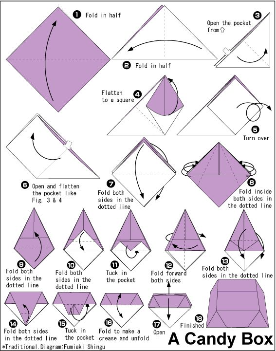 how to do origami box step by step 3