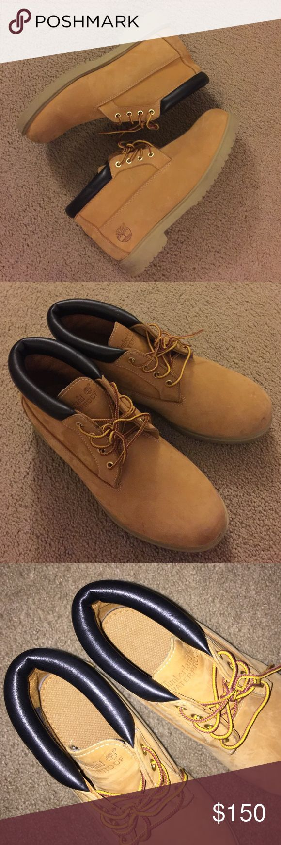 "TAN TIMBERLAND CHUKKA's Men's 6"" Low profile Tan Timberland CHUKKA Boots waterproof with padded collar in like new condition.. NO TRADES NO PP Timberland Shoes Chukka Boots"
