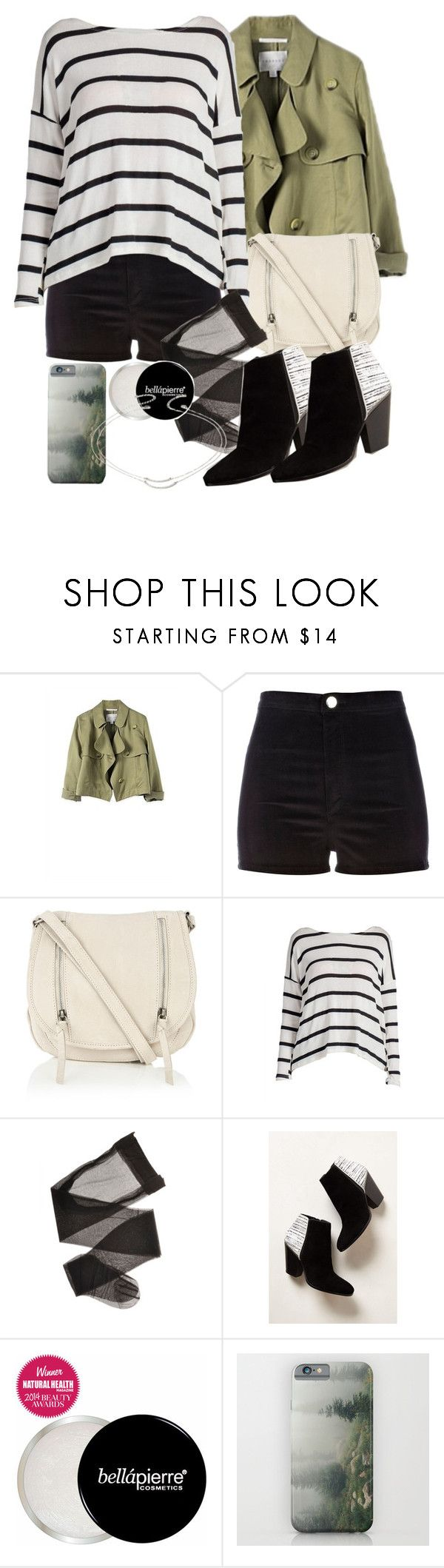 """""""Allison Inspired Outfit with High-Waisted Black Shorts"""" by veterization ❤ liked on Polyvore featuring River Island, Oasis, Dolce Vita and Forever 21"""