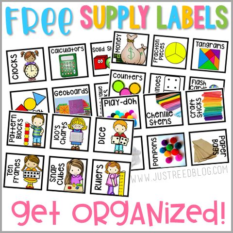 Grab these FREE classroom supply labels to help you (and your students) get and stay organized! From Ashley at the Just Reed Blog.