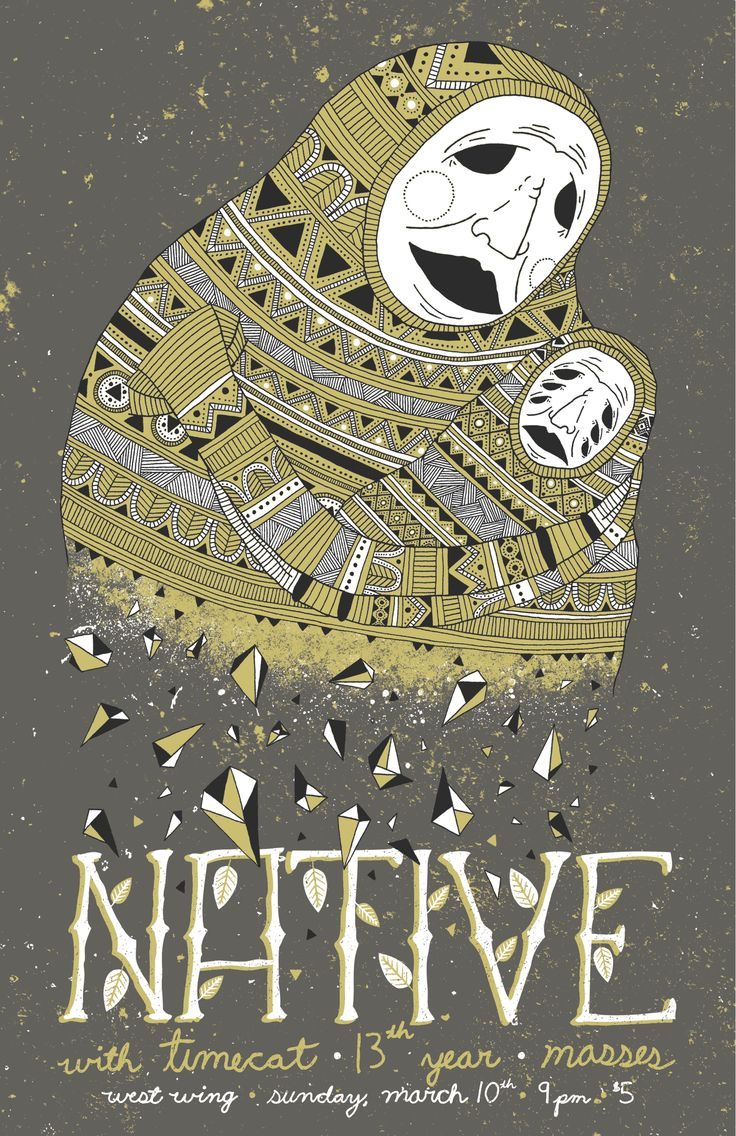 3 color poster designs - Poster Design For The Band Native In 3 Color Screen Print