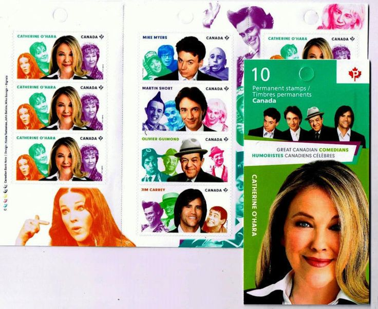 Stamps Canada Booklet Catherine O'Hara Aug 29 2014 Canadian Comedians