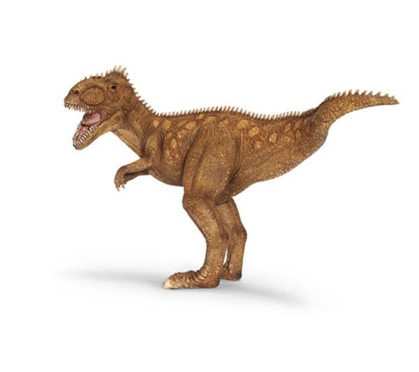 """Giganotosaurio Grande - El Giganotosaurus era más grande que el Tiranosaurio Rex. Era carnívoro y muy temido. Se dice que podía correr a unos 50 Km. por hora! Su nombre significa """"Reptil Gigante del Sur"""".  Alto: 18 cm Largo: 33 cm Figuras de gran calidad y detalle, parecen de verdad!  Diseñados en colaboración con el Museo de Ciencias Naturales de la Universidad de Humboldt de Berlín, Alemania. Edad: a partir de 3 años Marca: Schleich Ref. 30255 Precio: 34.00 € IVA incluido"""