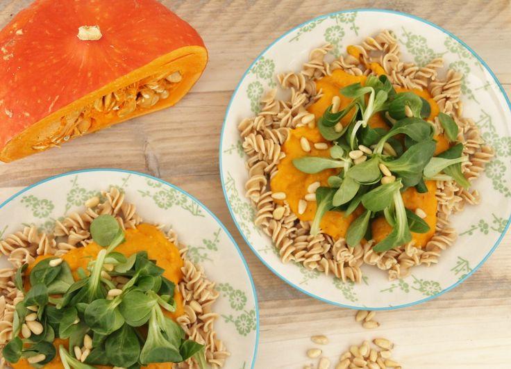 De 25 lekkerste pompoen recepten! Glutenvrije pasta met pompoenpuree. www.eatpurelove.nl