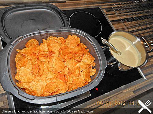 Brokkoli - Huhn mit Kartoffelchips