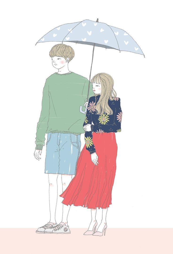 Under the umbrella with you (no background ver.) #illustration #drawing #illust #photoshop #digitalart #digitalpainting #painting #art #artwork #일러스트 #일러스트레이션 #드로잉 #그림 #그림스타그램 #내가그림 #소옹지 #컬러링 #포토샵