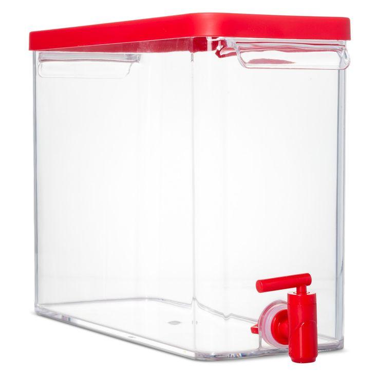 9.1 liter Plastic Beverage Dispenser - Red, Wowzer Red Opaque