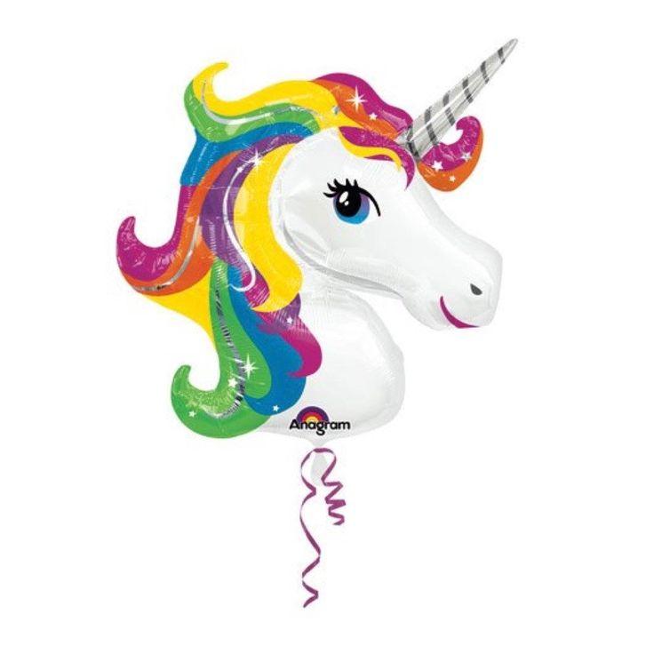 Unicorn Foil Balloons – Lucky Lulu Party Shop