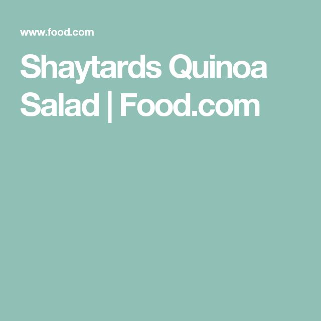Shaytards Quinoa Salad | Food.com
